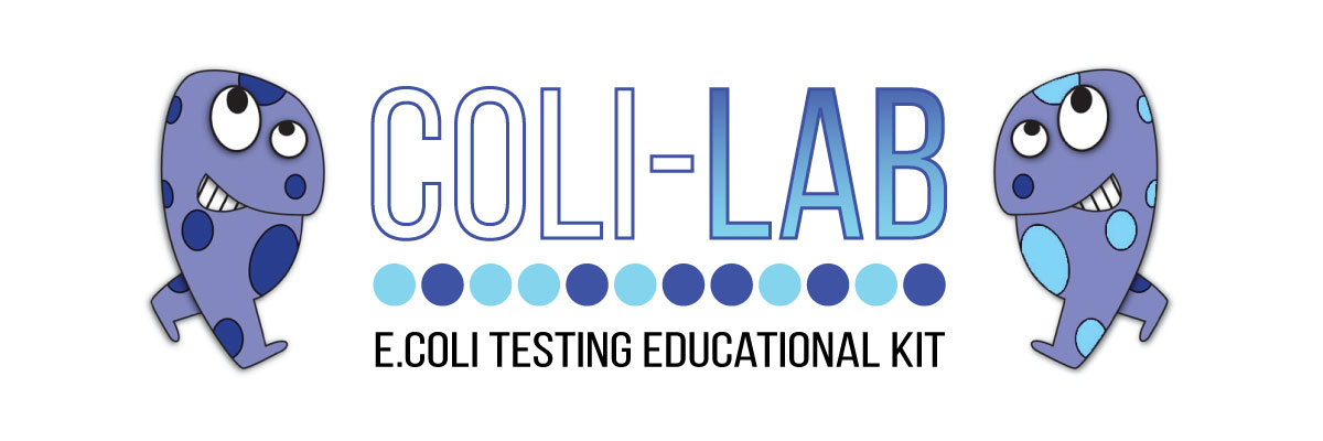coli lab ecoli testing educational kit logo