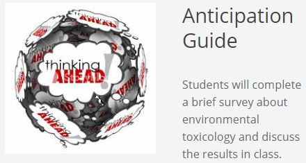 High School Biotechnology Anticipation Guide Link